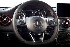 CLA 45 de Mercedes-Benz intérieur de 2016 AMG Photo stock