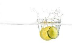 éclaboussure de citron Photos stock
