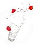 Éclaboussure de fraise Photo libre de droits