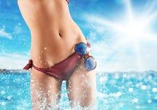 Éclaboussure de mer d'été Images libres de droits