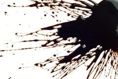 Éclaboussure de sirop de chocolat Images libres de droits