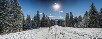 Clabucet ski slope Royalty Free Stock Photo