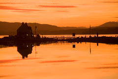 Clachnaharry Sea Lock and  Caledonian Canal. Royalty Free Stock Images