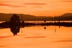 Clachnaharry Seeverriegelung und kaledonischer Kanal. lizenzfreie stockbilder