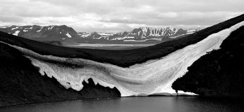 Clacier και βουνά στην Ισλανδία 1 Στοκ Φωτογραφίες