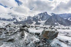 Clacier vicino alla montagna di Belukha, natura di Altai Fotografia Stock Libera da Diritti