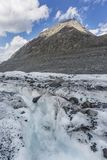 Clacier vicino alla montagna di Belukha, paesaggio di Altai Fotografia Stock Libera da Diritti