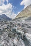 Clacier vicino alla montagna di Belukha, paesaggio di Altai Fotografie Stock