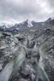Clacier vicino alla montagna di Belukha, paesaggio di Altai Immagini Stock Libere da Diritti