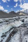 Clacier vicino alla montagna di Belukha, paesaggio di Altai Fotografie Stock Libere da Diritti