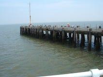 Clacton码头英国 免版税库存照片