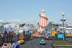 Clacton Holiday Pier With Helter Skelter Royalty Free Stock Photos