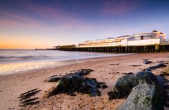 Clacton pier. Essex at sunrise Royalty Free Stock Photos