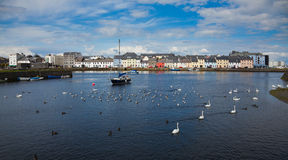 The Claddagh Galway. Panorama of the Claddagh in Galway city, Ireland Royalty Free Stock Images
