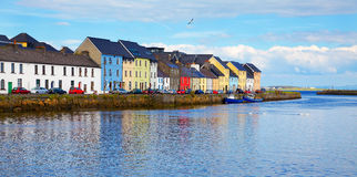 The Claddagh Galway. Panorama of the Claddagh in Galway city, Ireland Royalty Free Stock Photography