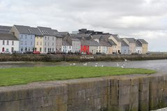 Claddagh, Galway, a fishing village royalty free stock photo