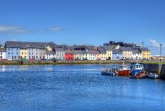 Claddagh Galway in Galway, Ireland. A view of the Claddagh Galway in Galway, Ireland royalty free stock images