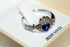 Claddagh ring Stock Photo