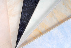 Cladding panel samples. Pvc plastic cladding panel samples Stock Photography