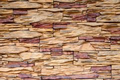 Cladding of stone wall. Close-up view Stock Images