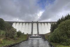 Claerwen Dam. In the Elan Valley, Mid Wales Royalty Free Stock Photos