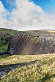 The Claerwen Dam, from above, portrait Royalty Free Stock Photo