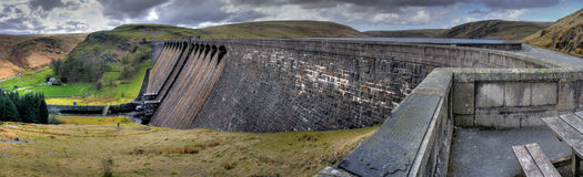 Claerwen Dam - Elan Valley Stock Photos