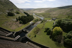 Claerwen dam, Elan Valley, Royalty Free Stock Photography