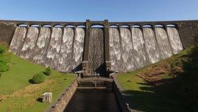Claerwen Dam, Elan Valley, Wales stock video footage