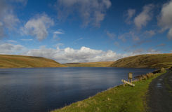 The Claerwen Reservoir, on edge of Mid-Wales wilderness. Stock Photos