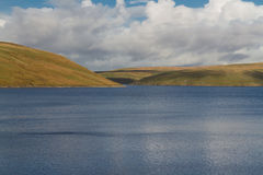 The Claerwen Reservoir, on edge of Mid-Wales wilderness. Royalty Free Stock Photo