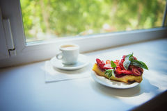 Clafouti με τις φράουλες Στοκ Φωτογραφία