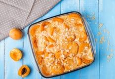 Clafoutis абрикоса Стоковые Изображения