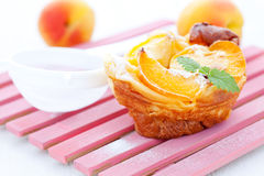 Clafoutis with apricot Royalty Free Stock Photos