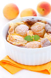 Clafoutis with apricots Stock Image