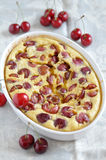 Clafoutis with cherries Stock Photos