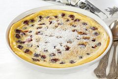 Clafoutis with Cherries Royalty Free Stock Image