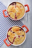Clafoutis with cherries Stock Images
