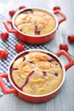 Clafoutis with cherries Stock Image