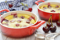 Clafoutis with cherries Stock Photo