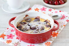 Clafoutis with cherries Stock Photography