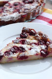 Clafoutis with cherry Stock Images