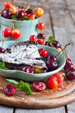 Clafoutis with cherry Royalty Free Stock Photography