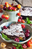 Clafoutis with cherry Royalty Free Stock Images