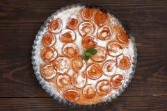 Clafoutis d'abricot Image libre de droits