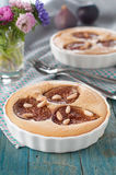 Clafoutis with fig Royalty Free Stock Photos