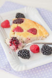 Clafoutis with fresh berries Royalty Free Stock Image