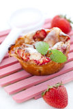 Clafoutis with strawberry Stock Photo