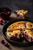 Clafoutis - a traditional French cake with cherries Royalty Free Stock Photography