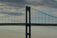 Claiborne Pell Bridge royalty free stock photo